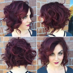 Messy curly bob hairstyle stylish office hairstyles 2016.jpg