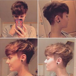 Messy shaved short haircut women girls hairstyle ideas 2016.jpg