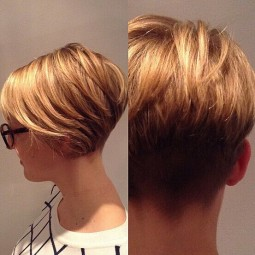 Blonde short hair style side back view.jpg