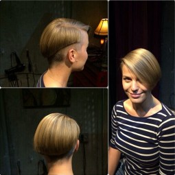 Sleek short hairstyle straight bob cut.jpg