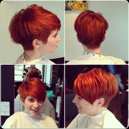 Stylish red color hair styles for short hair.png