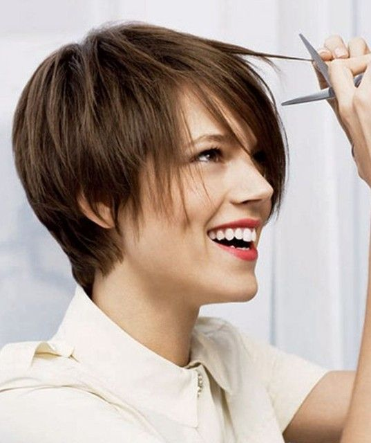 Short layered hairstyle with side bangs.jpg