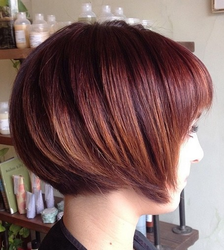 Trendy short red bob hairstyle for girls.jpg