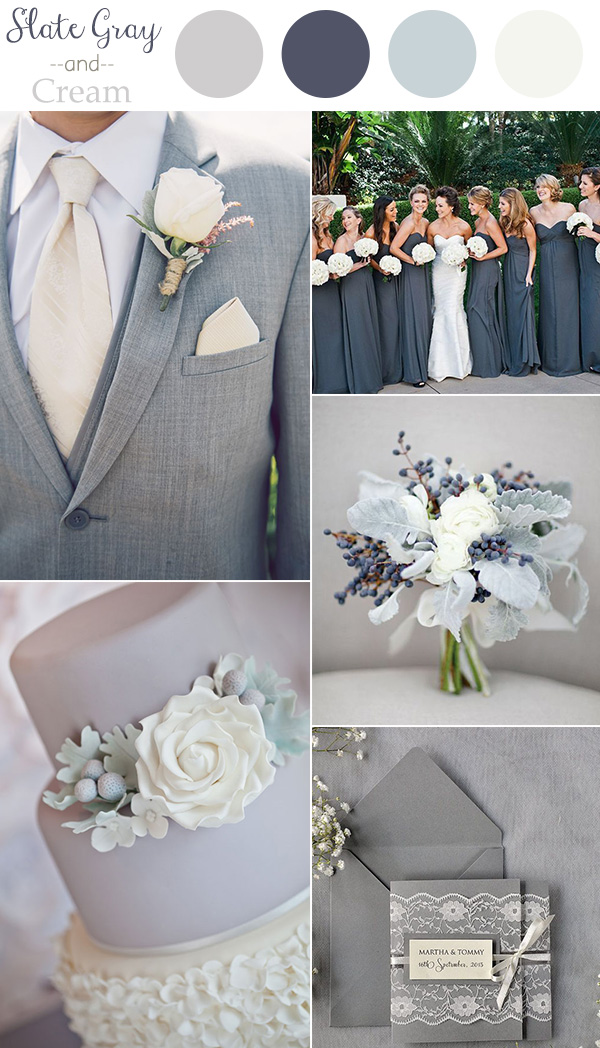 2016 trending slate gray and cream neutral wedding color ideas.jpg
