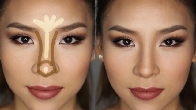 Makeup For Long Nose 4 Ways To Hide A Big Nose Wikihow