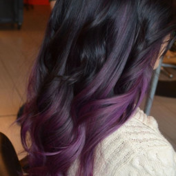 Dark purple balayage ombre hair color ideas for fall winter 2016 2017.jpg