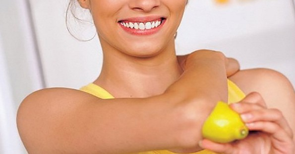 Lemon to remove dry skin from elbow.jpg