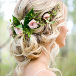 Romantic floral updo wedding hairstyles for 2017 1.jpg