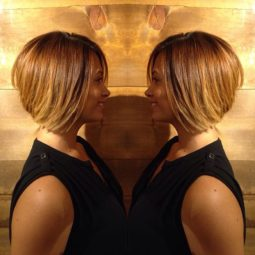Short a line bob hairstyle for black women.jpg