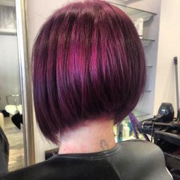 Textured graduated bob hairstyle color ideas .jpg