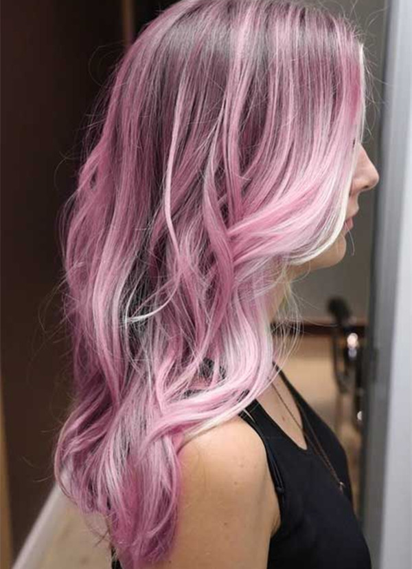 Cotton pink ombre hair color for black hair.jpg