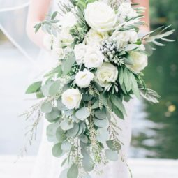 Eucalyptus berries and white rose cascading bouquet via corbin gurkin photography.jpg