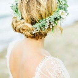 Greenery wedding hair ideas belle and beau fine art photography.jpg