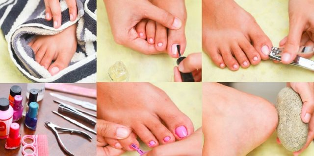 How to do a perfect pedicure for feet at home tutorial step by step.jpg