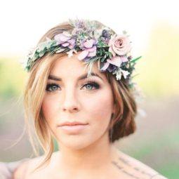 Pretty lavender floral crown via julie paisley.jpg