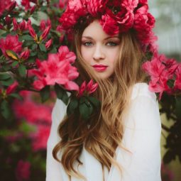 Red flower crown bridal hairstyle.jpg