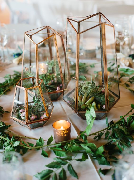 Terrarium geometric wedding centerpiece photography apryl ann photography.jpg