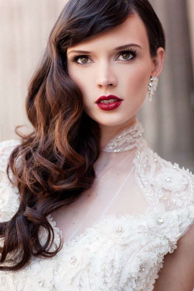 20 gorgeous bridal hairstyle and makeup ideas for 2016.jpg