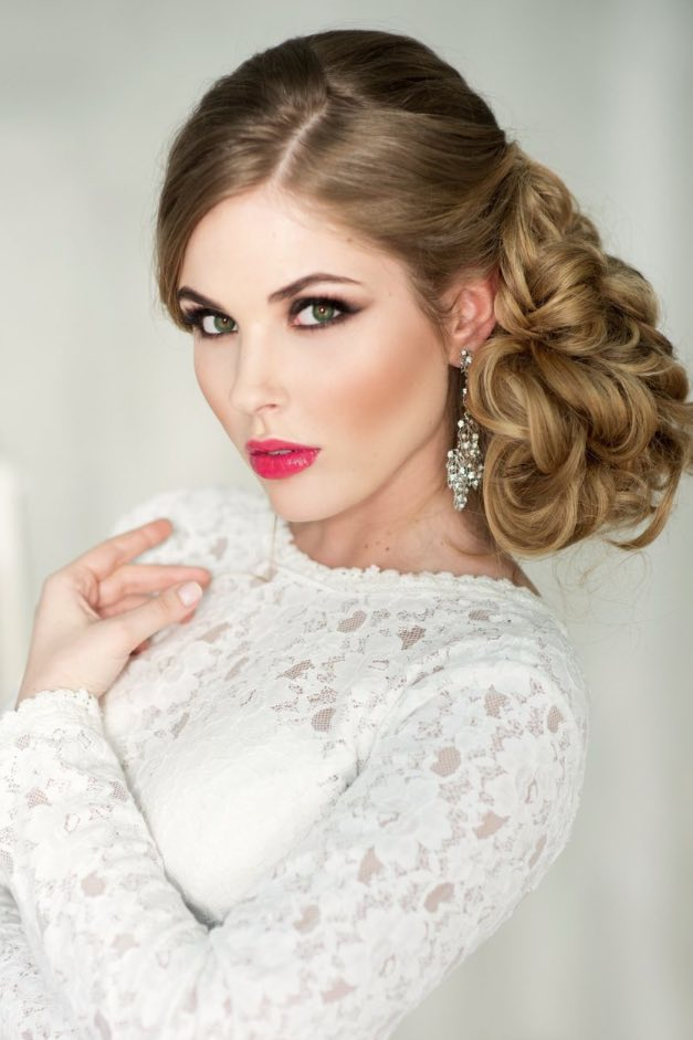 20 gorgeous bridal hairstyle and makeup ideas for 2016 9.jpg