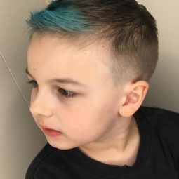 Hairbyericaloney toddler boy haircuts fine hair blue hair color.jpg