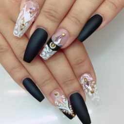Black and white ballerina nail design bmodish.jpg