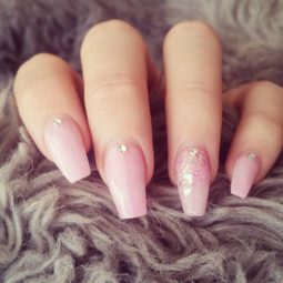 Cute pink ballerina cut nails bmodish.jpg