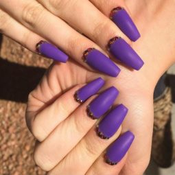 Purple matt ballerina nails bmodish.jpg