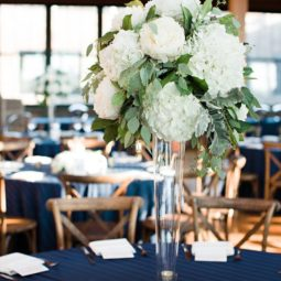 Green white centerpiece with peonies hydrangea and eucalyptus.jpg