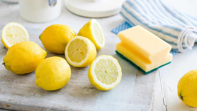 How to clean with lemons lemons and sponge.jpg