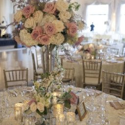 Ivory and dusty pink roses wedding centerpiece.jpg