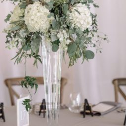 White and green tall wedding centerpieces.jpg