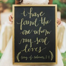 I have found the one whom my soul loves black and gold wedding sign.jpg