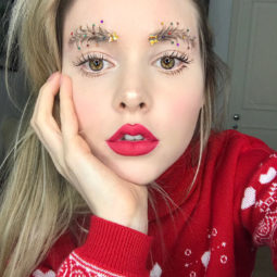 Christmas tree eyebrows taytay_xx 2.jpg