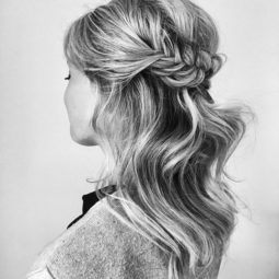 Half up braided hairstyle 2018 wedding hair trends.jpg