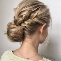 Low set updo 2018 wedding hair trends.jpg