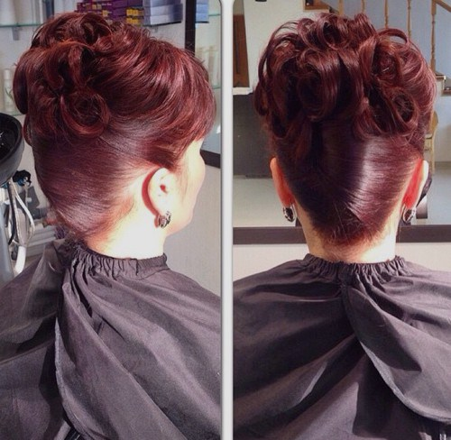 12 burgundy updo mother of the bride hairstyle.jpg
