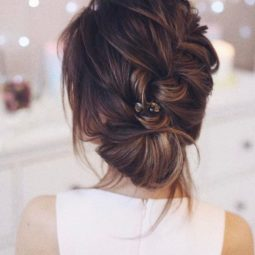 Soft braided wedding updo 2018 bridal hair trends.jpg