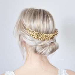 11 simple and cute decorated updo.jpg