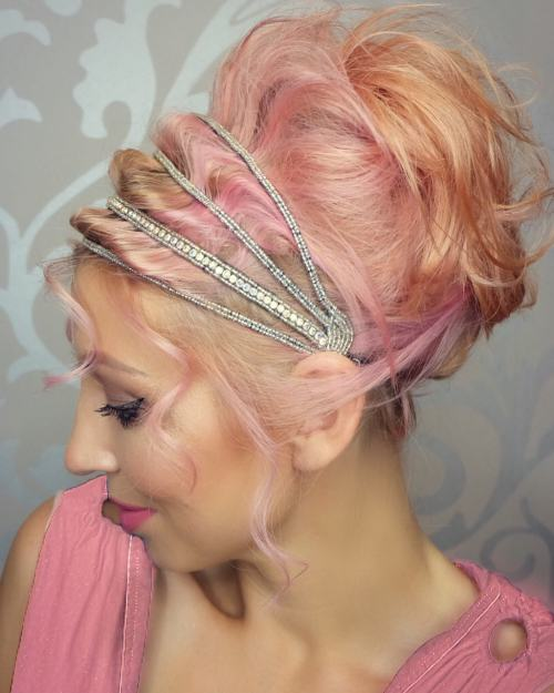 15 glam and colourful grecian updo.jpg