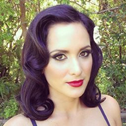 17 medium brunette pin up hairstyle.jpg