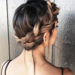 18 charming and messy crown braid updo.jpg