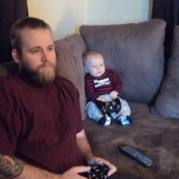 Like father like son gaming.jpg