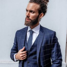 Curly hair men's ponytail best men's ponytail hairstyles.jpg