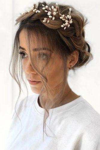 Wedding hairstyles 2019 updo with braided crown loose curls and accessorie ulyanaasterbridal 334x500.jpg