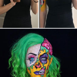 Brenna mazzoni epic cosplay transformations pop art zombie.jpg
