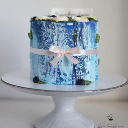 Blue wood cake art yulia kedyarova.png
