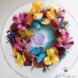 Butterflies and flowers cake art yulia kedyarova 1.png
