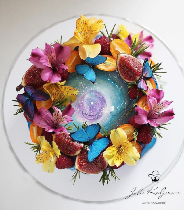 Butterflies and flowers cake art yulia kedyarova.png