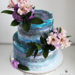 Universe and flowers cake art yulia kedyarova.png