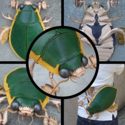 Amaheso creature inspired handbags green bug.jpg